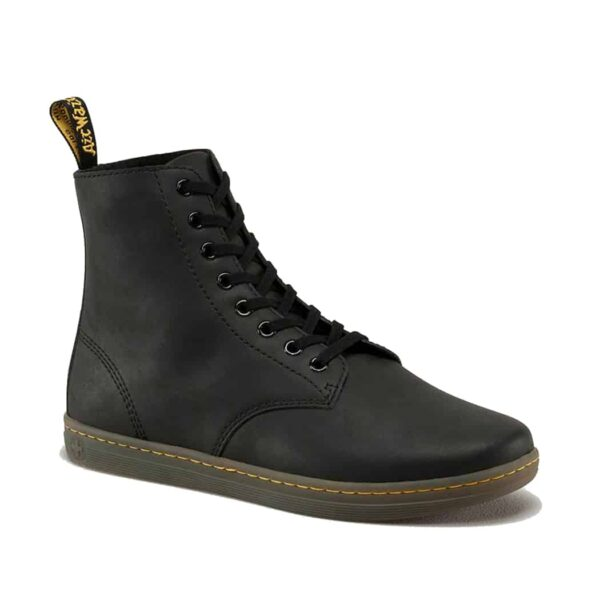 Dr. Martens Black Tobias Greasy Lamper 8-Eye Boot