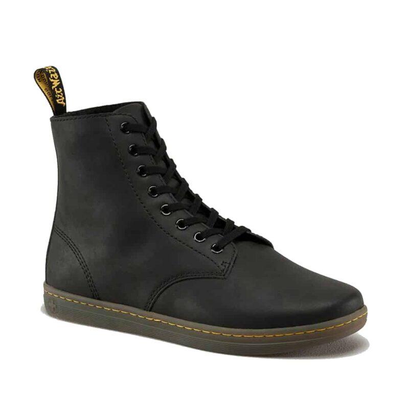 Dr. Martens Black Tobias Greasy Lamper 8-Eye Boot