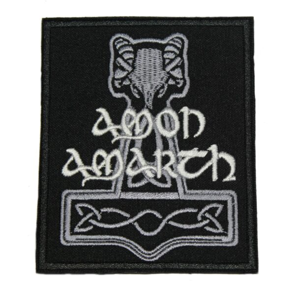 Amon Amarth Hammer Logo Patch