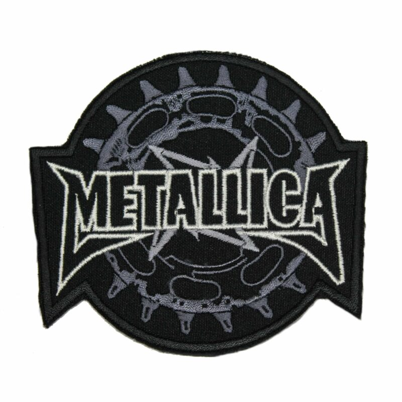 Metallica Saw Blade Gear Sprocket Throwing Star Logo Patch 1