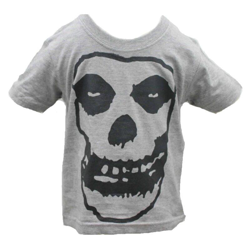 Misfits Fiend Skull Kids Charcoal T-Shirt 1