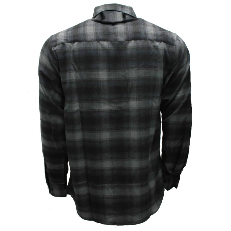 Charcoal and Gray Plaid Flannel Shirt 2