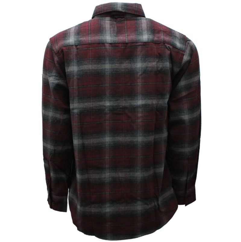 Burgundy and Gray Plaid Flannel 2