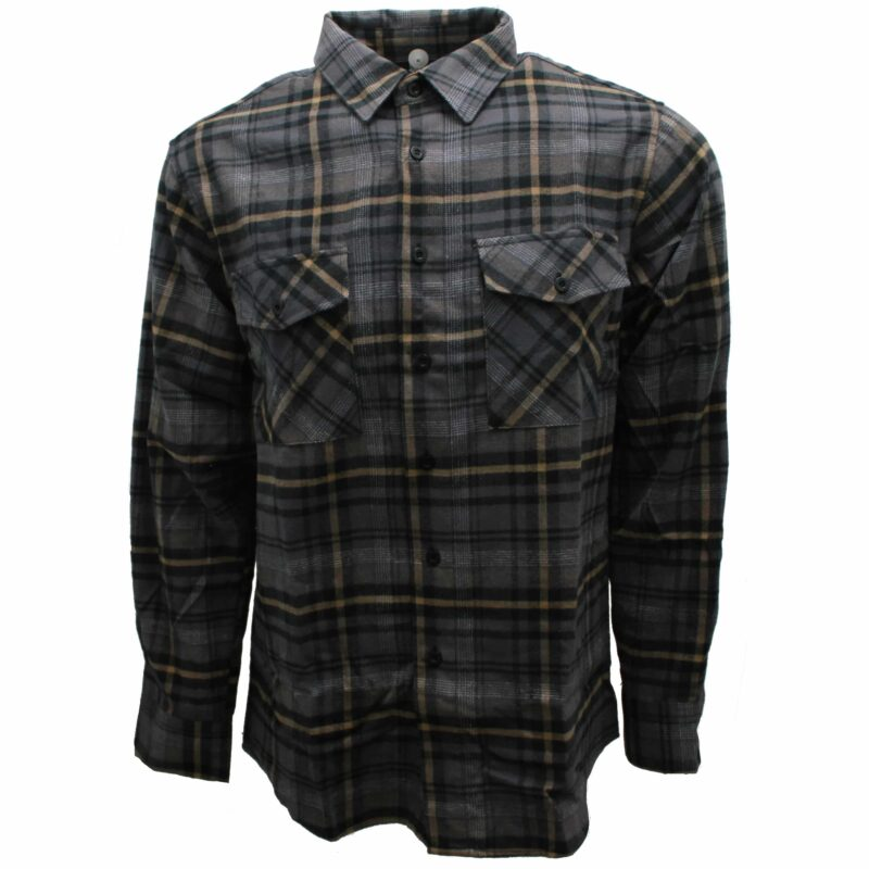 Mustard and Charcoal Plaid Flannel 1