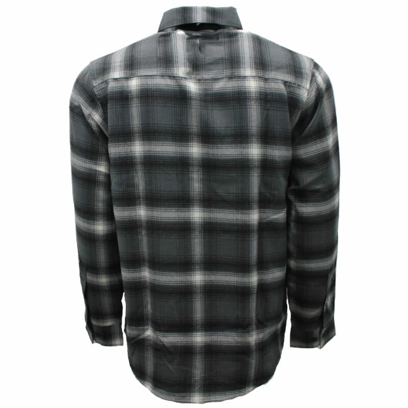 Gray and White Plaid Flannel Shirt 2