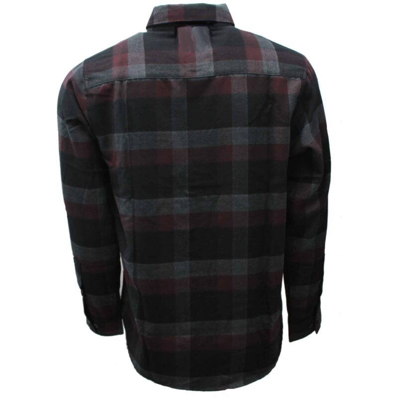 Maroon and Black Checkered Flannel 2