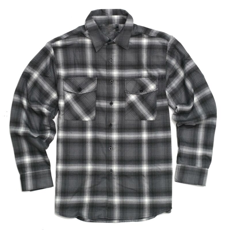 Light Gray Plaid Flannel