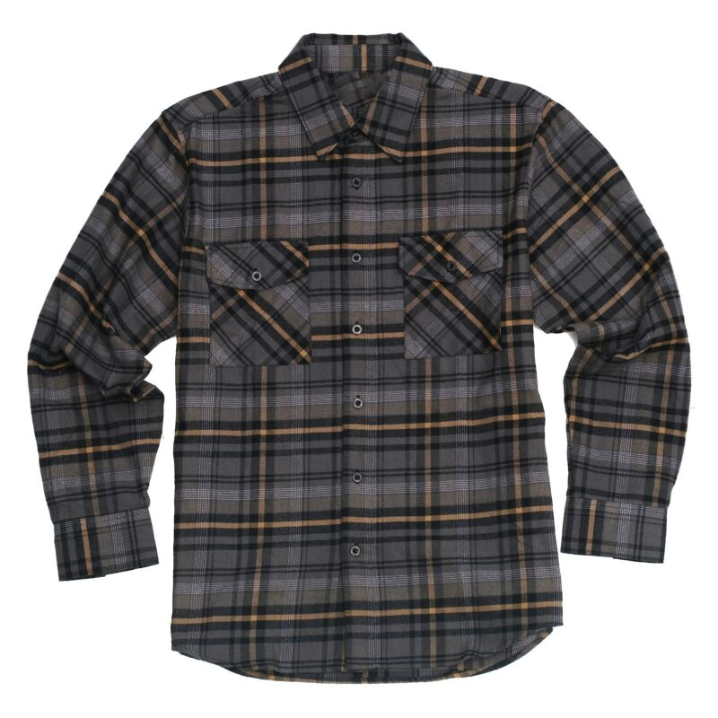 Mustard Charcoal Plaid Flannel