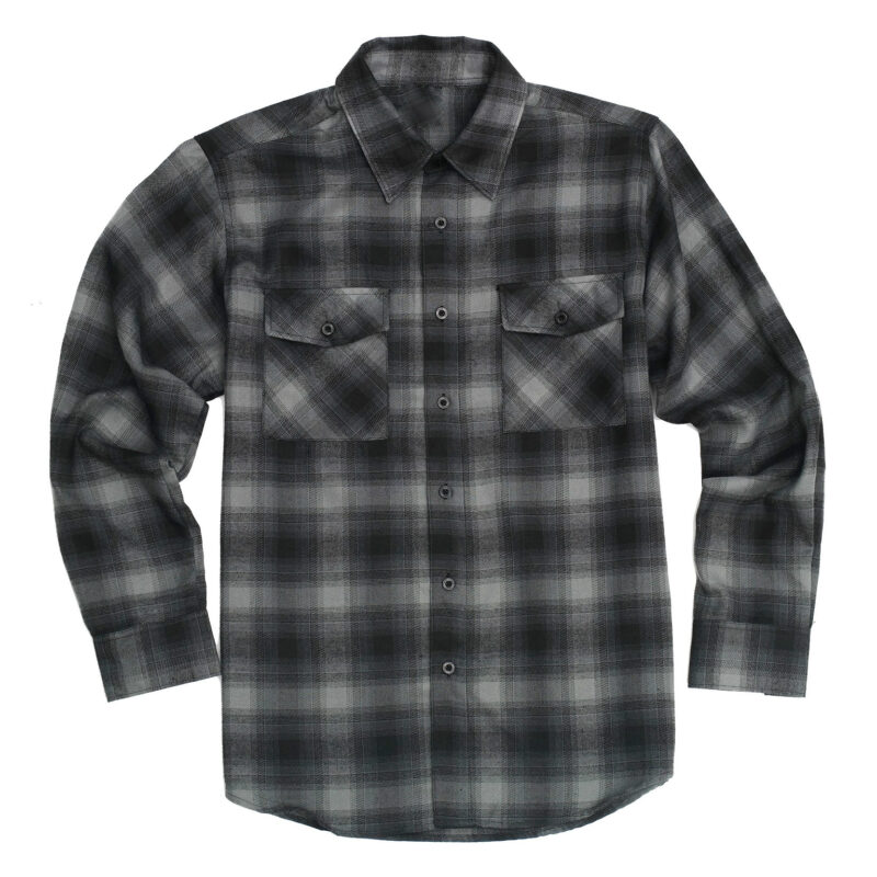 Charcoal Buffalo Plaid Flannel