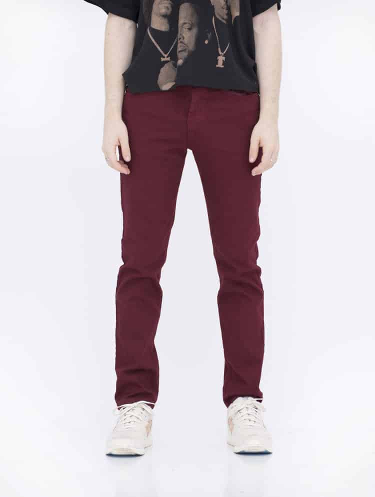 Burgundy Skinny Jeans by Neo Blue