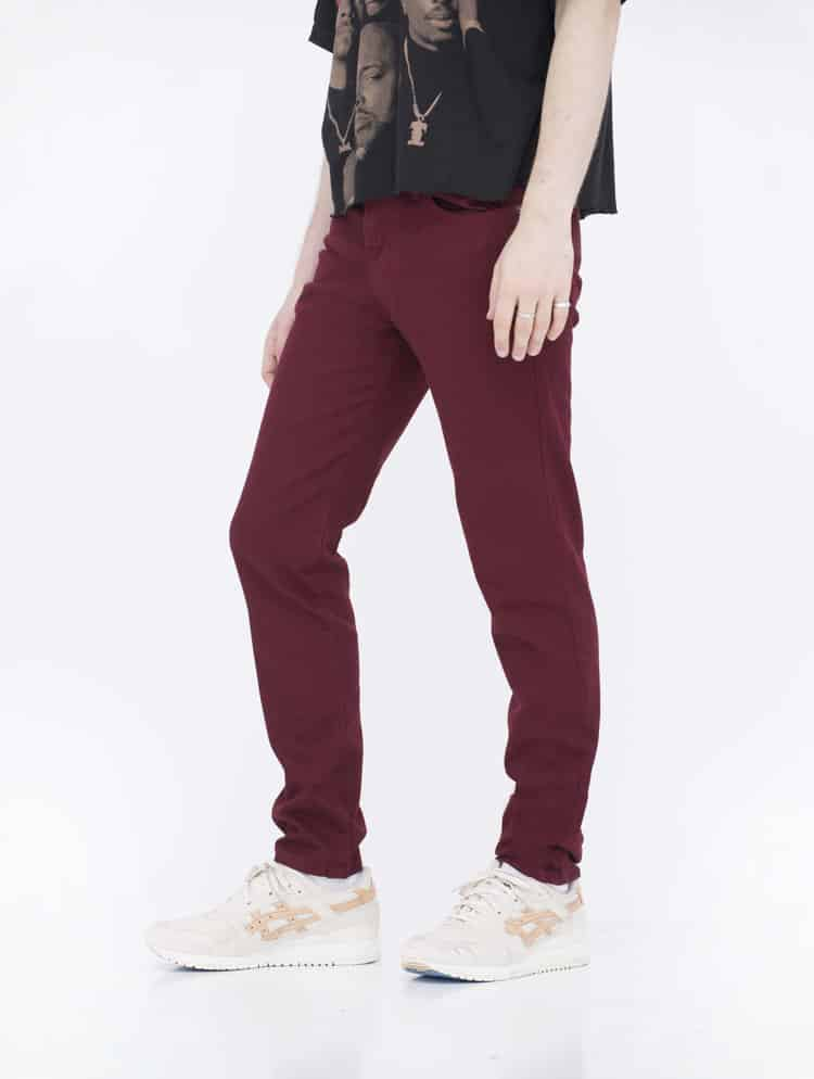 Burgundy Skinny Jeans by Neo Blue 1