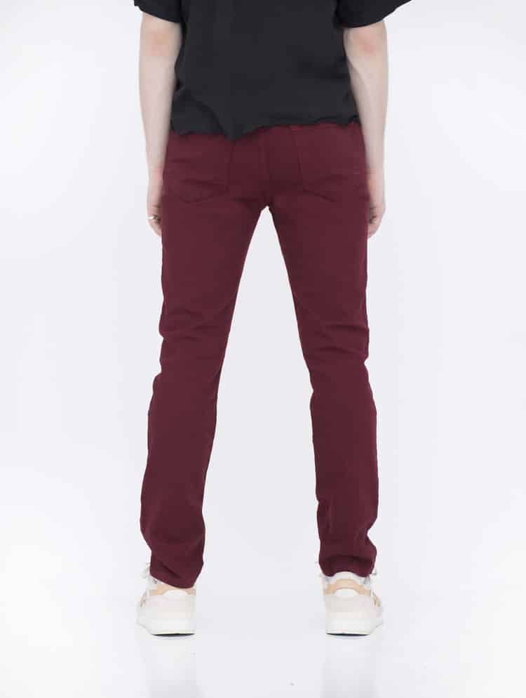 Burgundy Skinny Jeans by Neo Blue 2