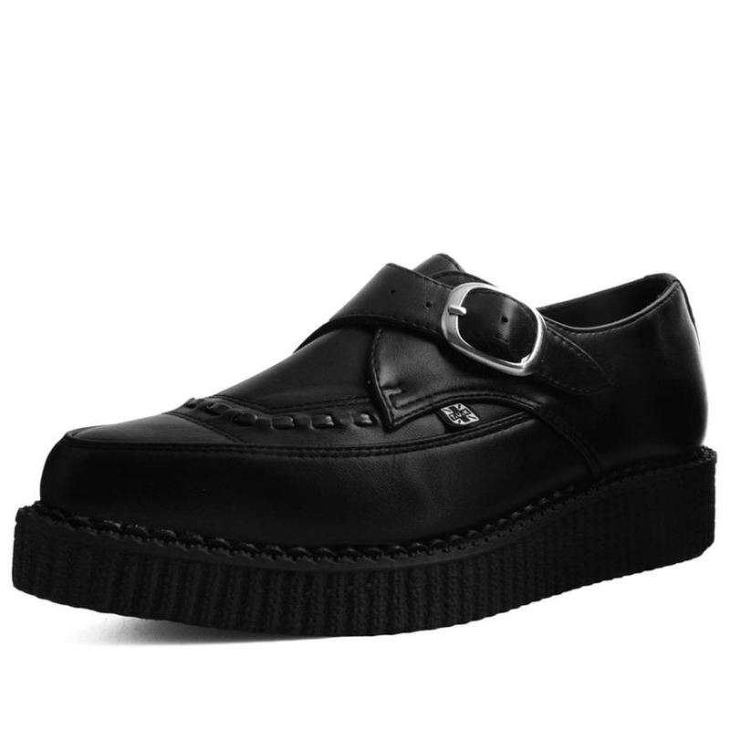 TUK Black Pointed Buckle Creeper A9324