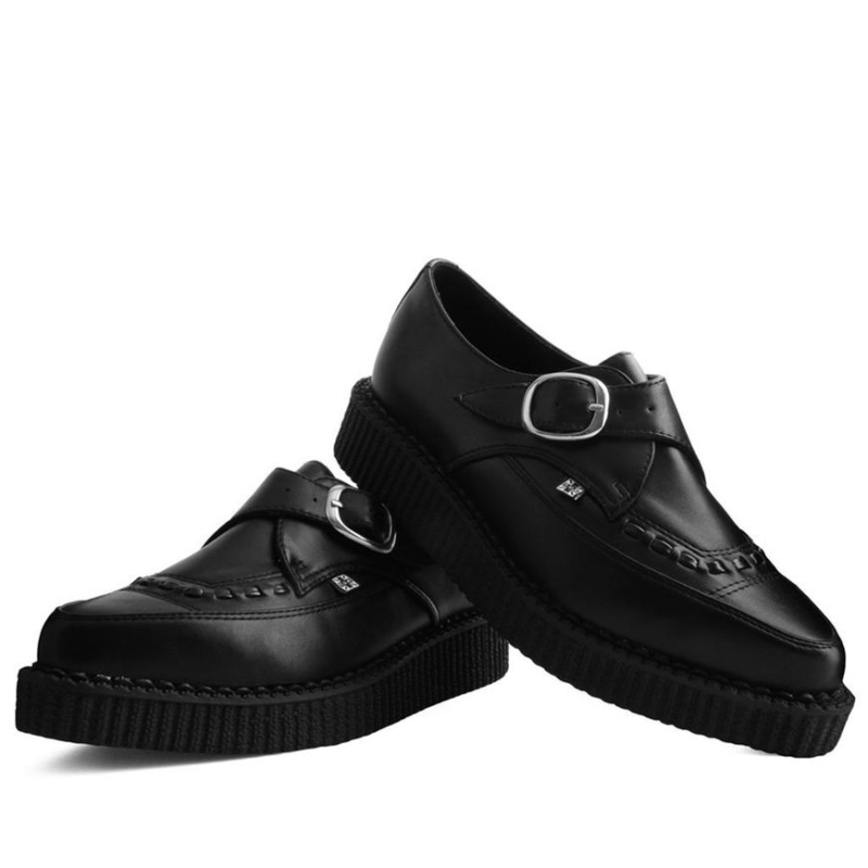 TUK Black Pointed Buckle Creeper A9324 1