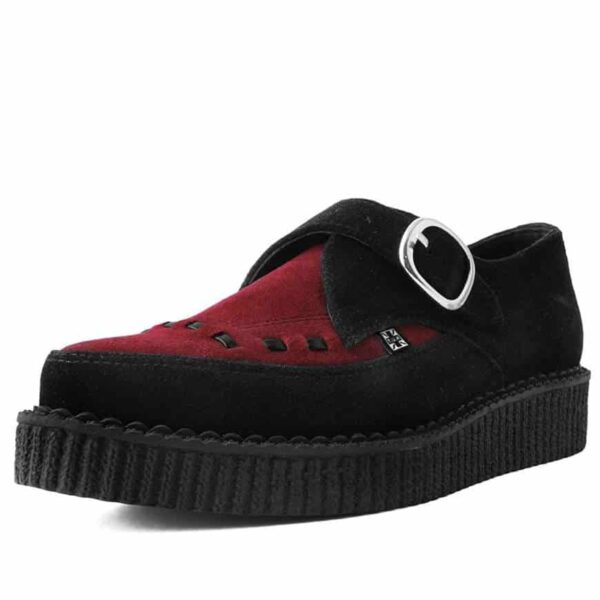 TUK Burgundy Suede Pointed Creeper A9592