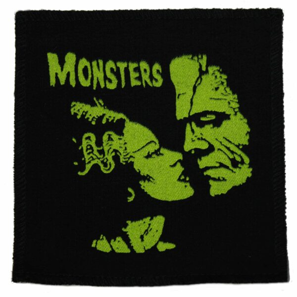 The Bride of Frankenstein Monsters in Love Cloth Patch