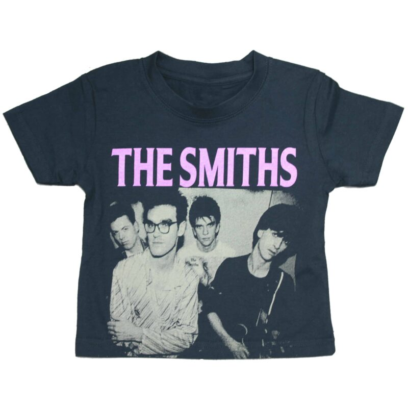 The Smiths Band Photo Kids T-Shirt Black 1