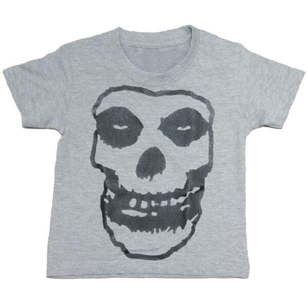 Misfits Fiend Skull Kids Charcoal T-Shirt