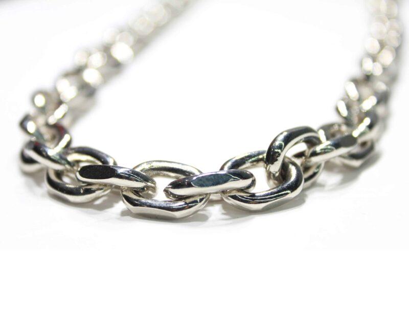 "Chrome Medium Link Wallet Chain 24"" 1"