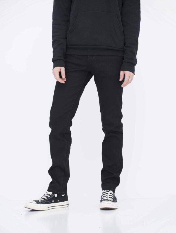 Jet black skinny jeans
