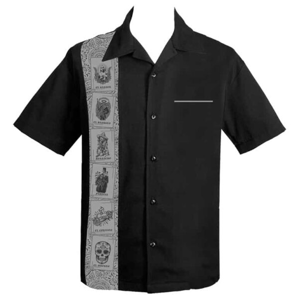 El Lottery Black Bowling Shirt by Steady Clothing