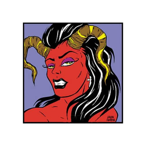 Forbes Horned Girl Sticker