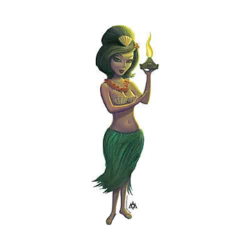 Aaron Marshall Hula Girl Sticker
