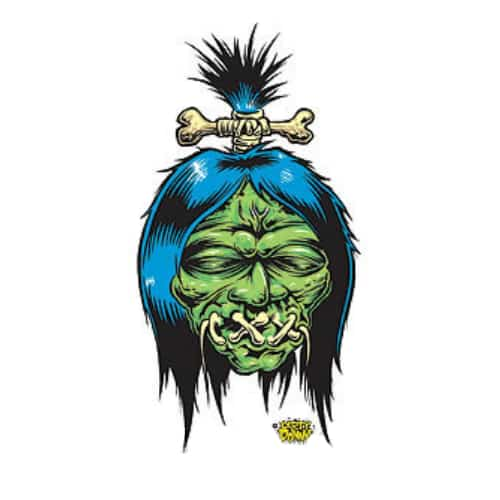 Dirty Donny Shrunken Head Sticker