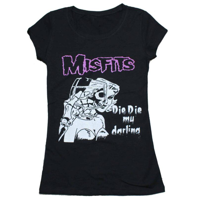 Misfits Die Die My Darling Womens Baby Tee 1