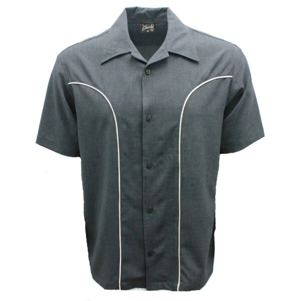 Charcoal Bowling Shirt by Steady Clothing