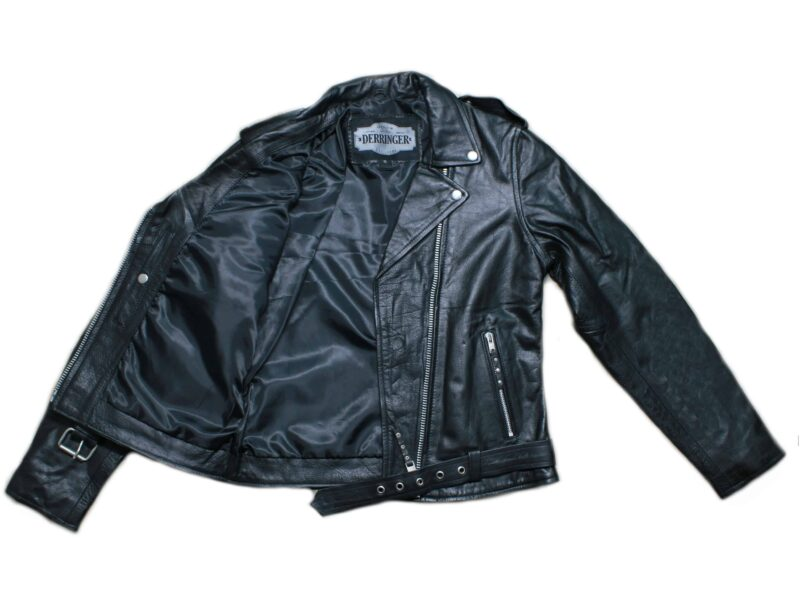 Women's Leather Biker Jacket 1