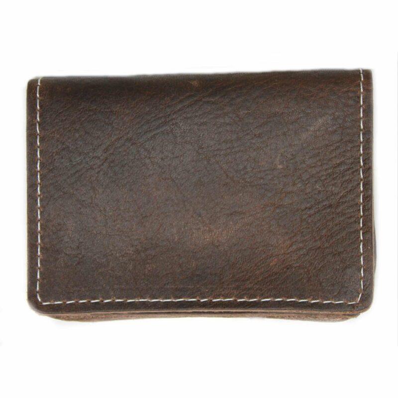 Brown Card Case Wallet Expandable 1