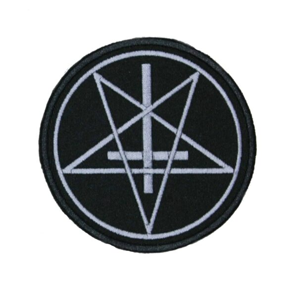 Pentagram Upside-down Cross Patch