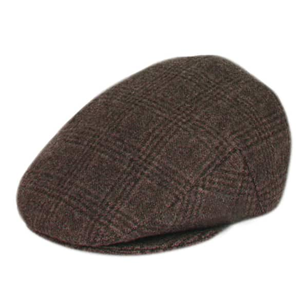 Brown Plaid Wool Ivy Hat