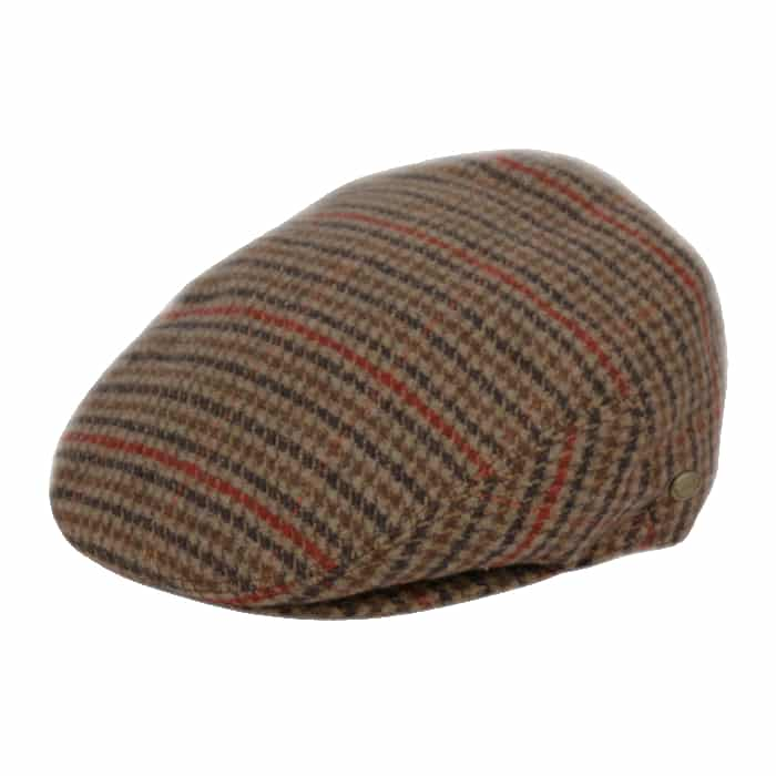 Brown and Red Plaid Wool Ivy Hat