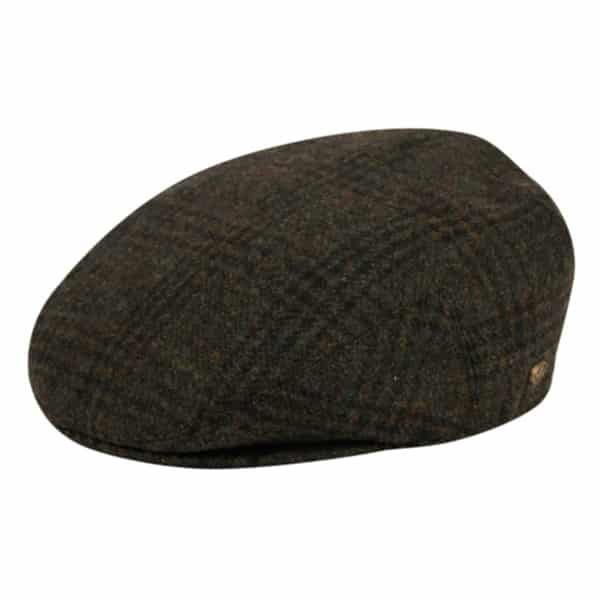 Olive Plaid Wool Ivy Hat