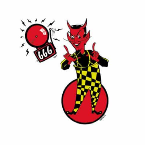Kozik Devil Alert Sticker