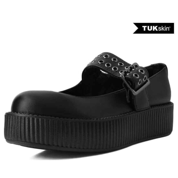 TUK Black Mary Jane Creeper V9595L