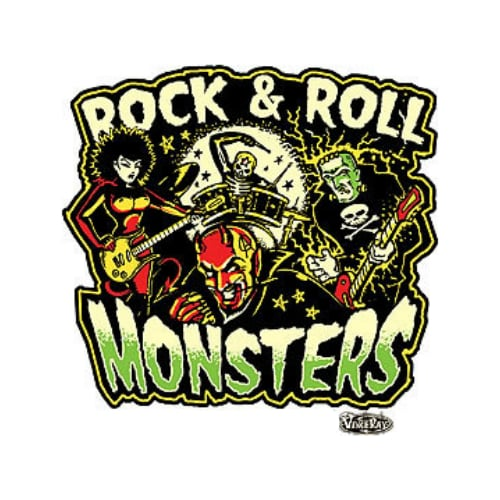 Vince Ray Rock and Roll Monsters Sticker