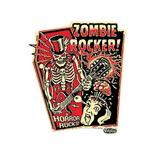 Vince Ray Zombie Rocker Sticker