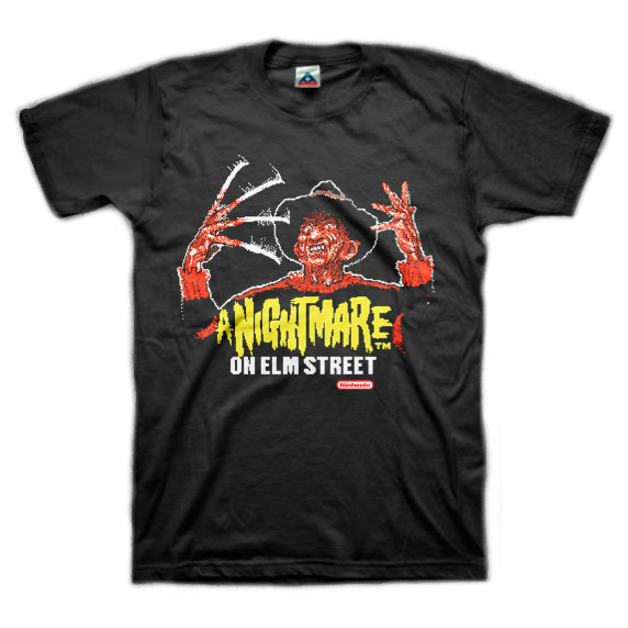 A Nightmare on Elm Street Nintendo T-Shirt
