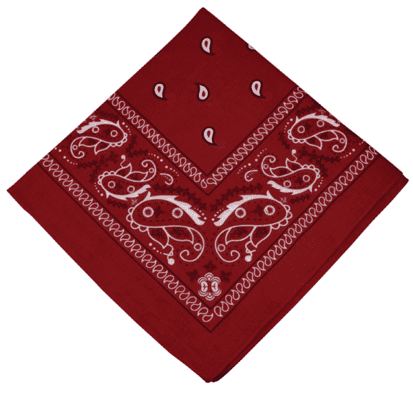 Burgundy Paisley Cotton Bandana