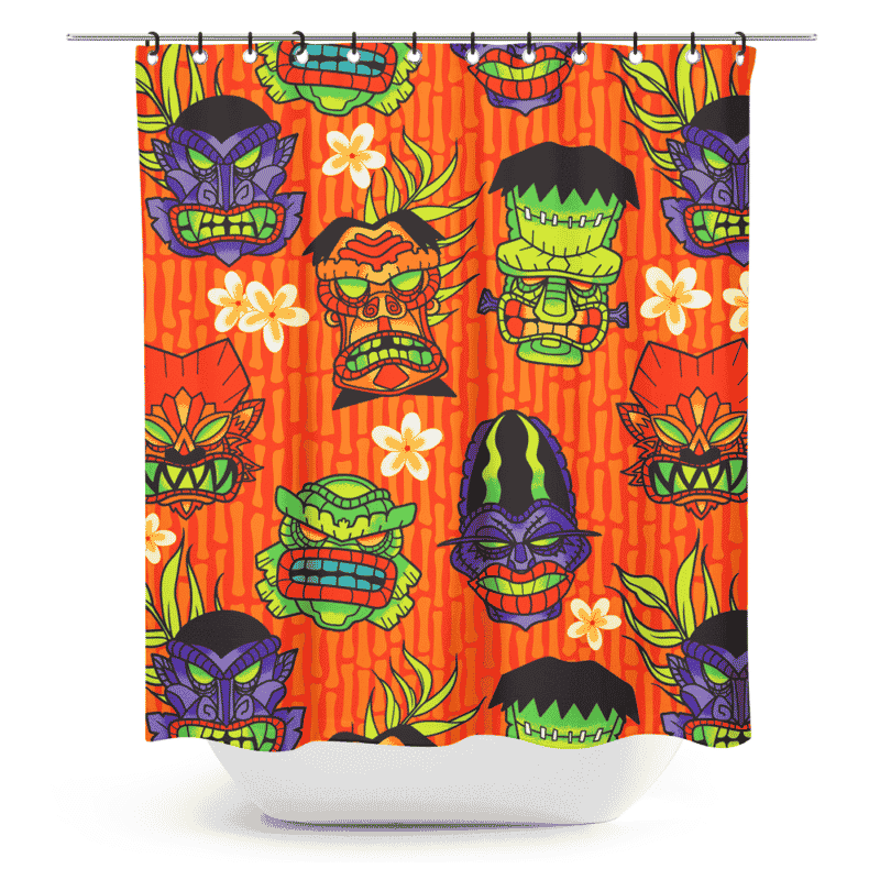 Monster Tiki Shower Curtain by Sourpuss Clothing 1