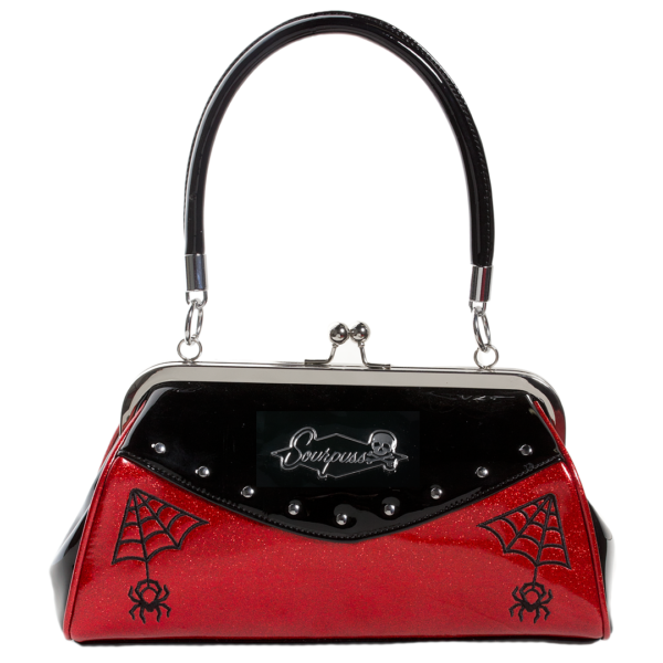 Red Webbed Widow Purse