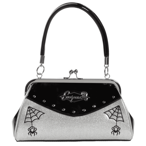 Silver Webbed Widow Purse