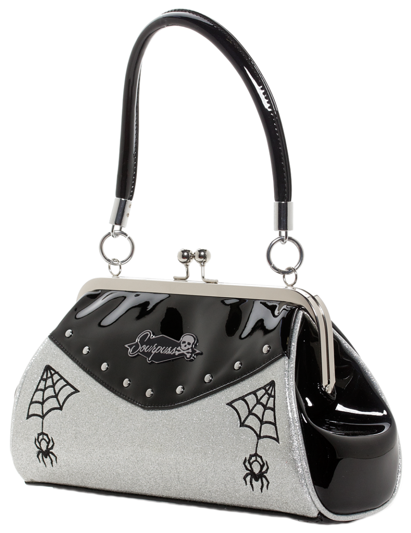 Silver Webbed Widow Purse by Sourpuss Clothing 1