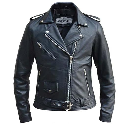 Women's Leather Biker Jacket