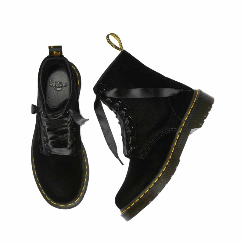 Dr. Martens 1460 Black Pascal Velvet 8-Eye Boot 7