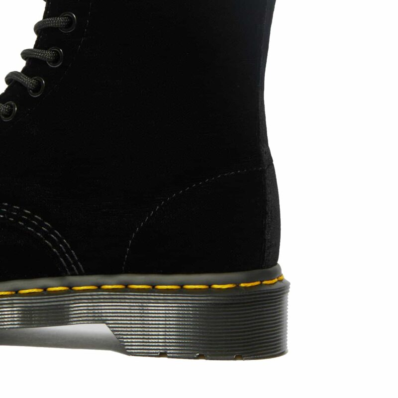 Dr. Martens 1460 Black Pascal Velvet 8-Eye Boot 4