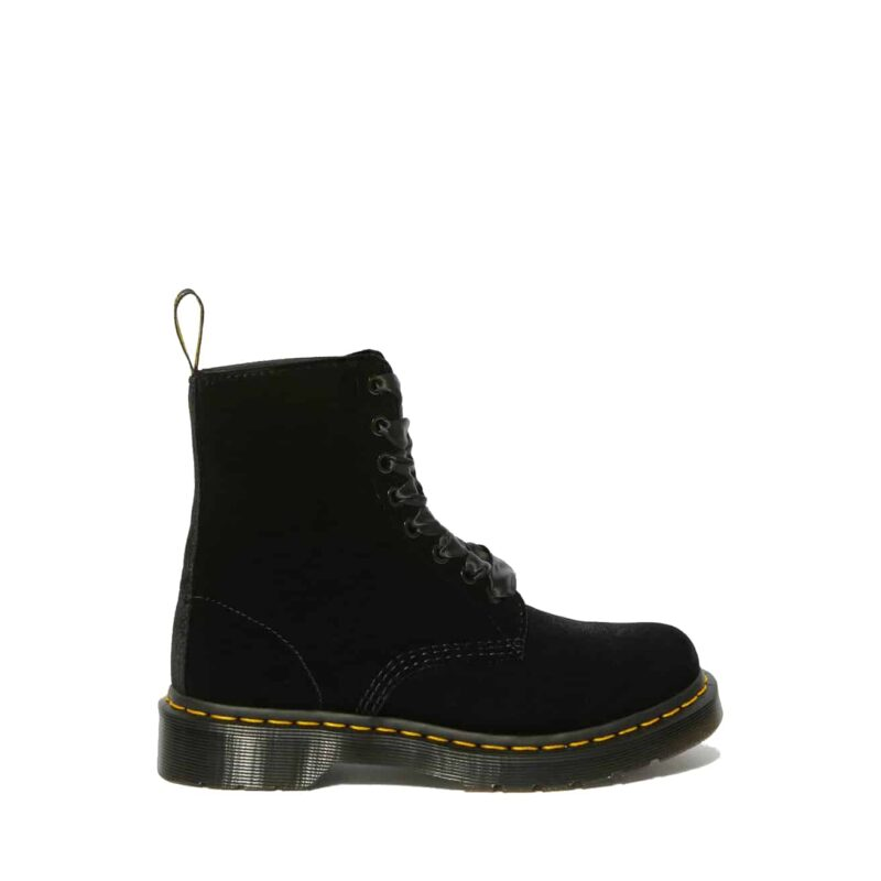 Dr. Martens 1460 Black Pascal Velvet 8-Eye Boot 2